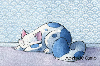 Chat qui dort by Adelaide-Camp