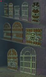 3D Pixel Dungeon Door Set 01 by bitgem