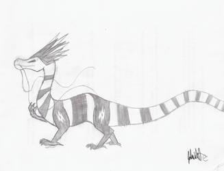 Personal Dragon Sketch by Moleo4