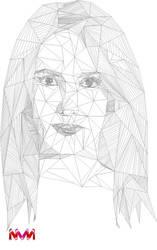 Geometric portrait by Nevine-Panda