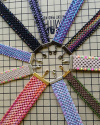 Hemp Bracelet Cuffs by silhouettes-spirits