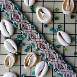 Mermaid Infinity Hemp Bracelet Cuff by silhouettes-spirits