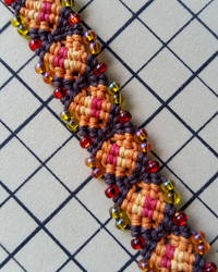 Autumn Infinity Hemp Bracelet Cuff by silhouettes-spirits