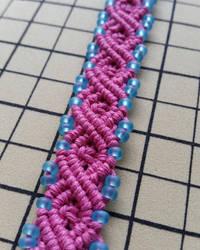 Cotton Candy Infinity Hemp Bracelet Cuff by silhouettes-spirits