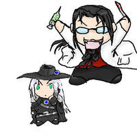 Count Hojo and Sephiroth D by Ratty08