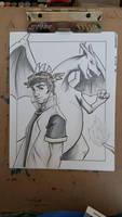 Pokemon Commission from Realmscon 2015 Grayscale by Ratty08