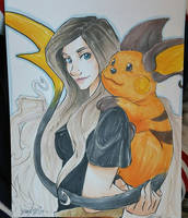 A girl and her Raichu by Ratty08