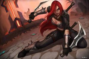League of Legends: Katarina by DanOliveira