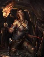 Lara Croft Fanart by DanOliveira