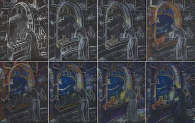 Moonletters WIP by carthasis