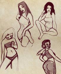 Random Pin Up sketches by Mro16