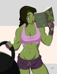 She Hulk Commission 2 by Mro16