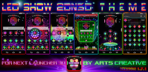 Next Launcher 3D Theme LedShow v1.7.1 by ArtsCreativeGroup