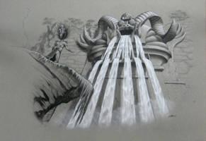 Mayan Waterfall Idol by mattleese87