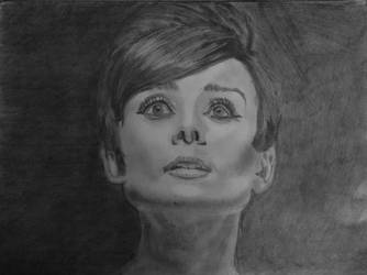 Audrey Hepburn portrait by akshay31