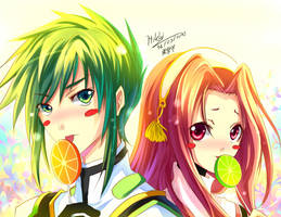 Sync and Arietta by myhilary