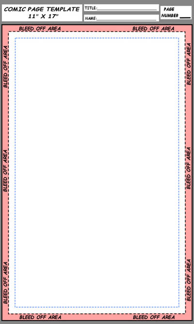 Easy To Use Comic Book Page Template 11 X 17 Inch By Foxes76133 On