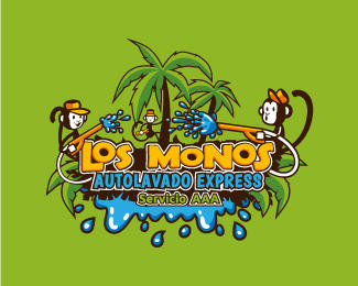 Los Monos Autolavado Logo By Whitefoxdesigns On Deviantart