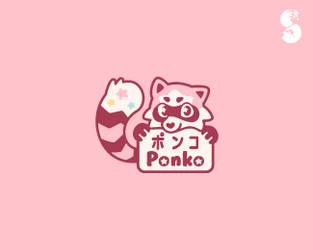 Ponkochi-Logo by whitefoxdesigns