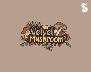 Velvet-Mushroom-Logo by whitefoxdesigns