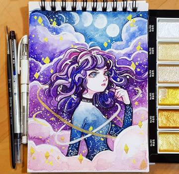 Watercolour 14.1.18 - Galaxy by N2Y88