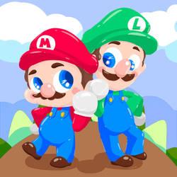 iPad 12.03.18 - Mario Brothers! by N2Y88