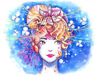 Watercolour + Inktense: Aquatic by N2Y88