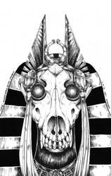 Inktober/Mythtober - Anubis by N2Y88