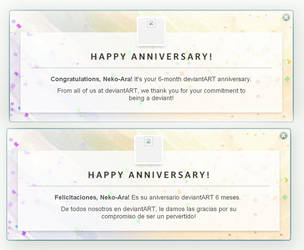 Aniversario de seis meses! by Neko-Ara