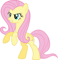 Angry Fluttershy by Racefox