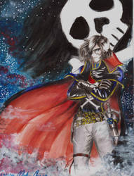 Harlock and the sky by Libra-marig