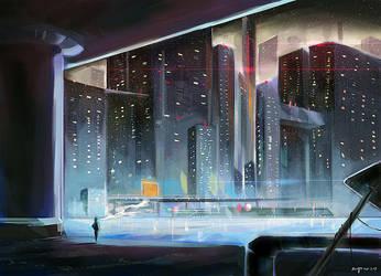 Snowy City by amy30535