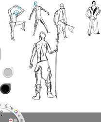 Gesture-drawings by TheCreativeScrapYard