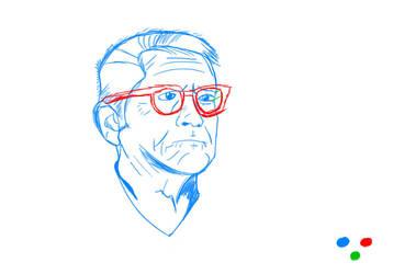 Old Man Face WIP by TheCreativeScrapYard