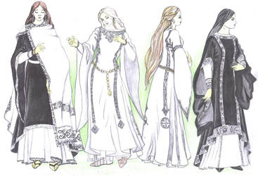 Gondorian clothing for women by Tindarien