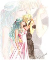 Haruka and Michiru by a-emka
