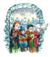 Golden Trio by frecklednose124