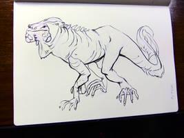 Inktober2016 day 16: Iguana pony by Clean3d