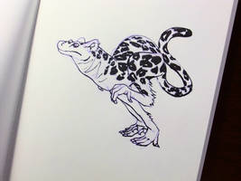 Inktober2016 day 19: Komodo-leopard by Clean3d