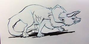 Inktober2016 day 19: Tricera-wolf by Clean3d