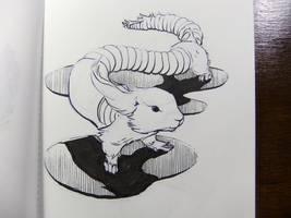 Inktober2016 day 23: Earthworm Prairie Dog by Clean3d