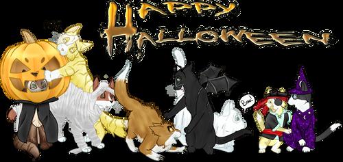 Celtic Kitties: Halloween 2011 by TheNekoHufflepuff
