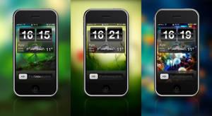 Black HTC Clock Lockscreen by DH-84