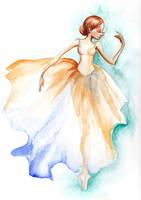 Watercolor ballerina by wdkimmy