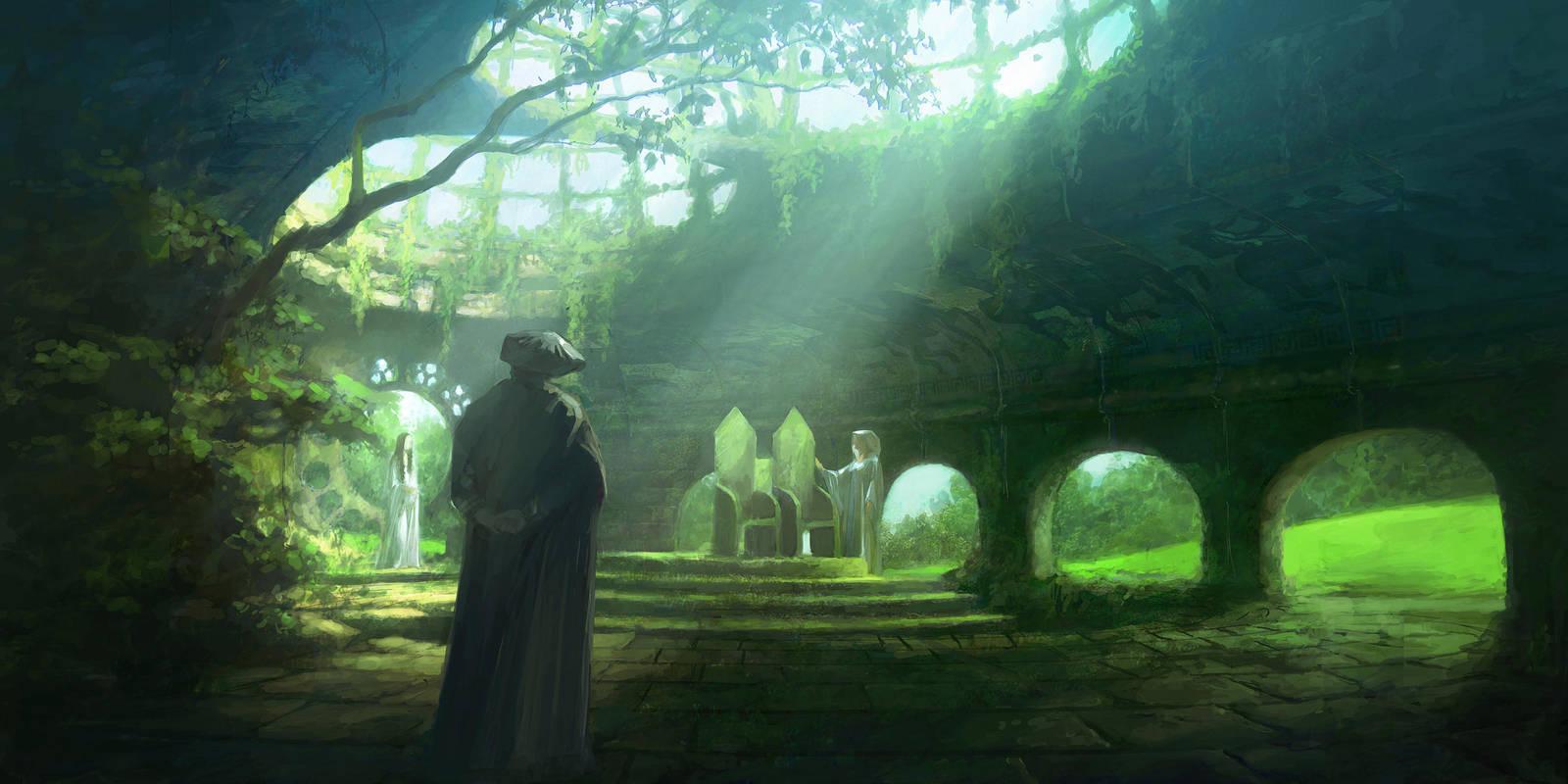 Ruins of Doriath by PeteAmachree
