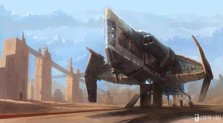 Spaceship sketch by PeteAmachree