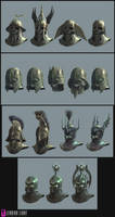 Fable II helmet designs by PeteAmachree