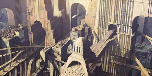 future city 1 by PeteAmachree