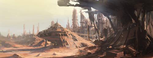 Klingon Dilithium Mine by PeteAmachree