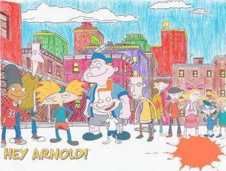 Hey Arnold's Neighborhood by IijumiSoukai